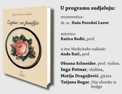 """Predstavljanje knjige """"Zapisi za poslije"""" Katice Katarine Budić"""